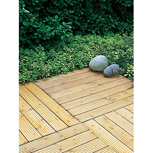 Patio Timber Deck Tile 600 x 600 mm