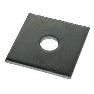 4TRADE Square Plate Washers M16 x 50 Bright Zinc Plated 10PK