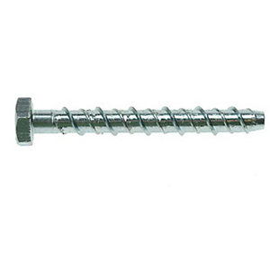 4TRADE Anchor Bolt Hexagon Head M14 x 150mm Zinc Plated PK5