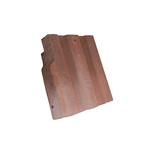 Redland Renown Left Hand Cloaked Verge Rustic Red Roofing Tile