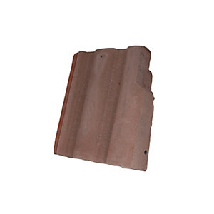 Redland Renown Right Hand Cloaked Verge Rustic Red Roofing Tile