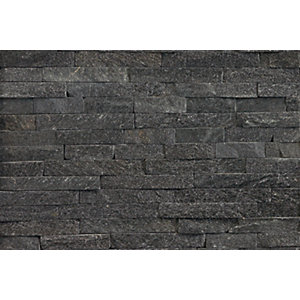 Marshalls Stoneface Drystack Veneer Z Shaped Walling Nero Quartzite