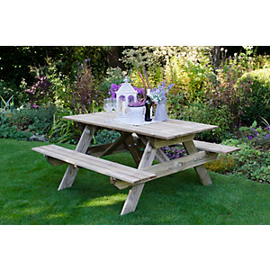 Small Rectangular Picnic Table Pressure Treated 1500 x 700 x 1500mm