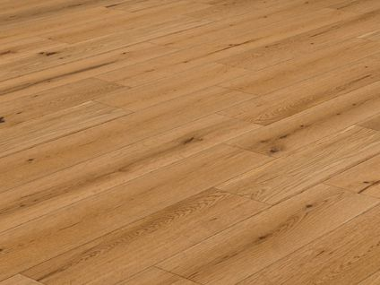 Style T46 Lacquered Natural Oak Solid Wood Flooring 18mm X 150mm