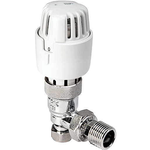 Angled Thermostatic Radiator Valves 10/8 mm