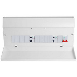 EASY9 Consumer Unit 17TH Edition Dual RCD 16 Way 7+7+2 & 10 MCB's EZ9S2R7R7DCU
