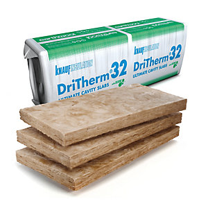 Knauf Insulation Earthwool Dritherm 32 150mm Ultimate Cavity Insulation Slab 1200mm x 455mm