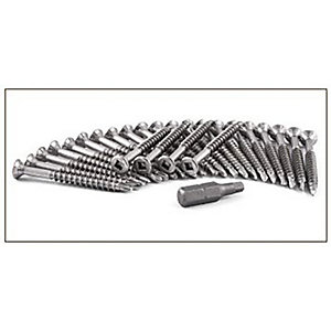 Cedral Screw Torx With Wings 4.8mm x 38mm Stainless Steel Op05 Grey