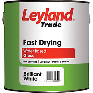 Leyland Fast Drying Water Based Gloss 2.5L Paint Brilliant White