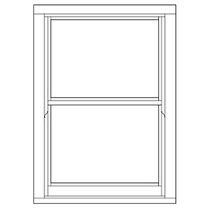 Softwood Sliding Sash 24mm Fully Glazed Window 855mm x 1195mm LETVS0812