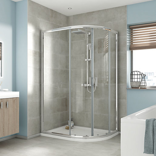 iflo Edessa Offset Quadrant Shower Enclosure 1200 x 900mm