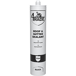 4Trade Roof & Gutter Sealant Black 310ml