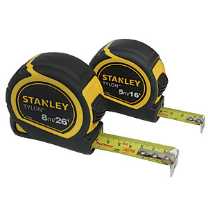 Stanley Tylon Tapes 8m & 5m Twin Pack STHT9-98985