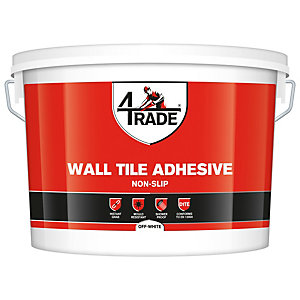 4TRADE Non Slip Wall Tile Adhesive Off White - 10L