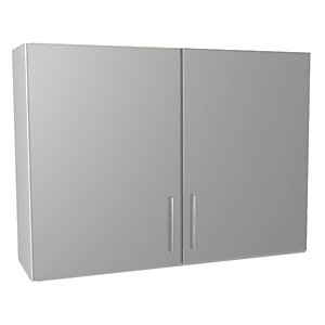 Orlando Grey Gloss Kitchen 1000mm Wall Unit