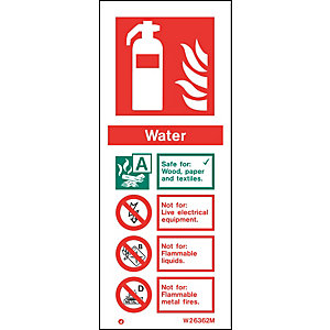 Fire Safety Water Extinguisher Sign