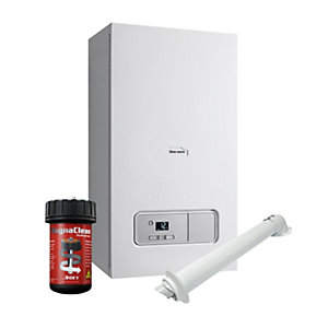Glow-worm Ultimate 3 35kW ErP Combi Gas Boiler with Horizontal Flue and Adey PRO1 Pack