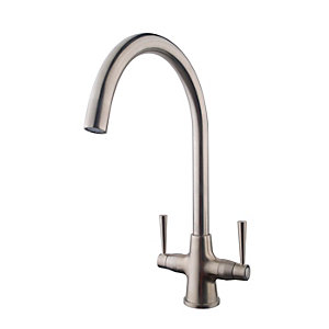 Talence Monobloc Sink Mixer Brushed Nickel 177011ABN