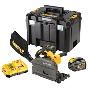 DeWalt 54V Xr Flexvolt Plunge Saw 2 Batts Charger DCS520T2