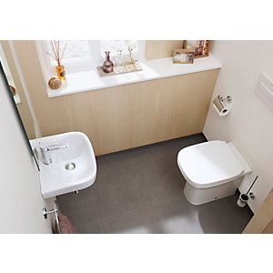 Roca Debba Back-to-wall Toilet Including Tank & Seat