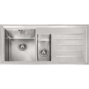 Franke Winsford 1.5 Bowl Stainless Steel Sink Right Hand 101.0529.823