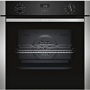 NEFF Single Multifunction Oven with Circotherm Stainless Steel B1ACE4HN0B