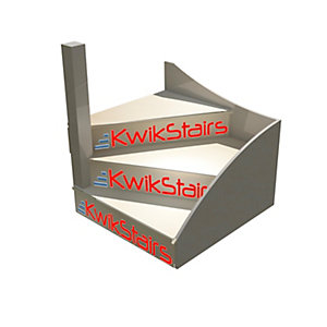 """Kwikstairs Flat Pack Left Hand (As You Go Up) Winder Kit, Will Make 650,700,750,800,850 Or 900mm Wide"""""""