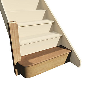 """KwikStairs flat pack Bullnose kit, up to 900mm wide and variable height (max 220mm)"""""""