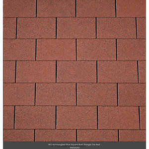 Iko Armourglass Square Butt Shingles 2m2 Red 10