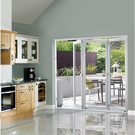 Slimline External Pre-finished White Bifold Door Set 2690mm wide