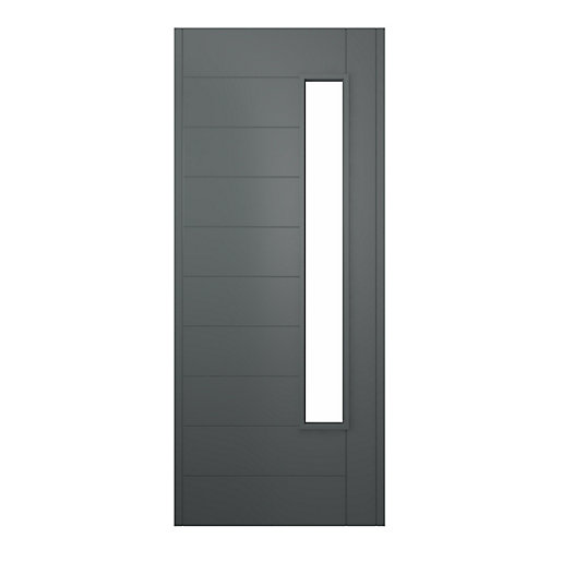 Stockholm Ultimate External Front Grey Hardwood Veneer Door 1981 mm x 838 mm x 44 mm