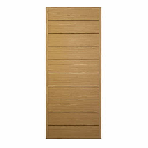 Oslo Ultimate External Front Oak Veneer Door 1981 mm x 762 mm x 44 mm