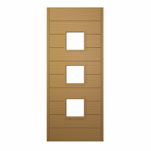 Malmo Ultimate External Front Oak Veneer Door 1981 mm x 762 mm x 44 mm