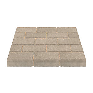 Marshalls Standard Concrete Natural Block Paving 200 x 100 x 50 - Pack of 488 (9.76m2)