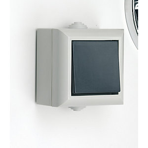 Smj 1 Gang 2 Way Switch  Outdoor (Boxed) IP54 Grey
