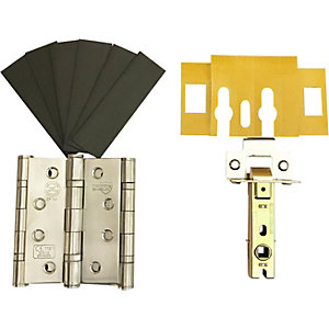 4FireDoors Fire Door Grade 13 Hinge & Latch Pack Stainless Steel
