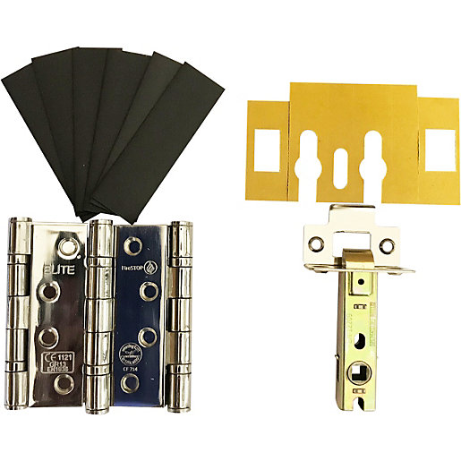 4FireDoors Fire Door Grade 13 Hinge & Latch Pack Chrome