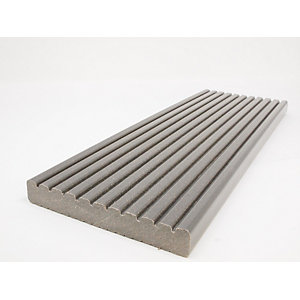Ecodek Grooved Advanced Technology Reversible Composite Decking Board 21 x 136 x 3600mm