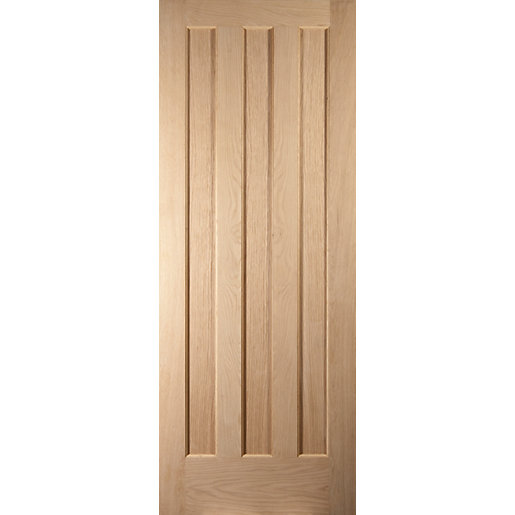 Oregon Aston 3 Panel Interior White Oak Fire Door 1981x686mm