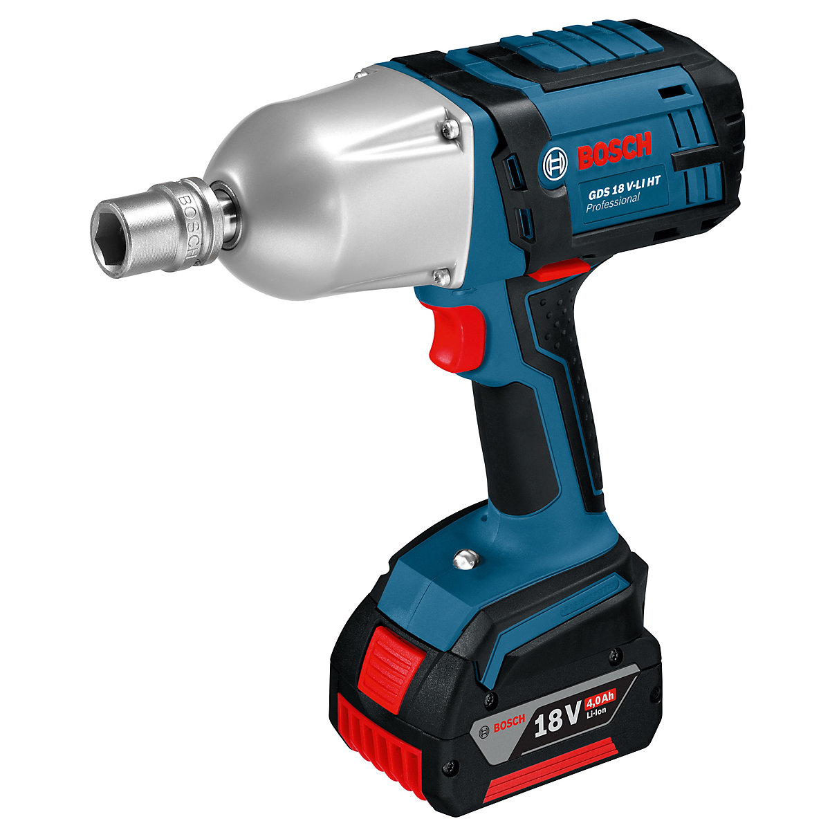 59a131c7679 Bosch Gds 18 V-li Ht 650NM 18V Impact Wrench with 2 x 5.0 Ah Batteries and  Charger in A L-boxx | Travis Perkins