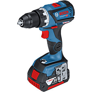 Bosch GSB 18 V-60 C Brushless 18V Combi with 2 x 5.0Ah Batteries and Charger (L-BOXX)