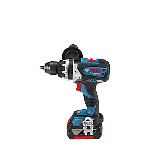Bosch GSB 18 V-85 C 18V Combi with 2 x 5.0Ah Batteries and Charger (L-BOXX)