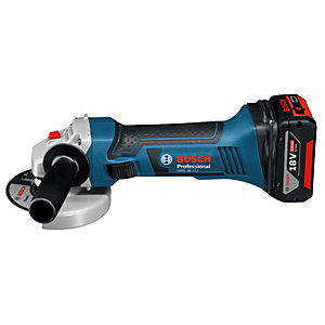 Bosch GWS 18V-LI 18V Angle Grinder with 2 x 5.0Ah Batteries and Charger (L-BOXX)