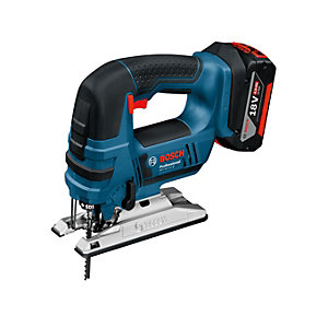Bosch GST 18V-LIB 18V Jigsaw with 2 x 5.0Ah Batteries and Charger (L-BOXX)