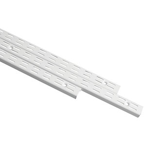 Wickes Twin Slot Upright White 1219mm