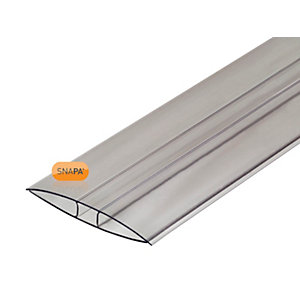 Snapa 10mm Polycarbonate H Section 3m