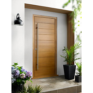 Oslo Ultimate External Oak Front Door with Outer Frame