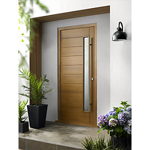 Stockholm Ultimate External Oak Front Door with Outer Frame 903mm x 2130mm