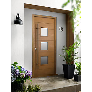 Malmo Ultimate External Oak Front Door with Outer Frame