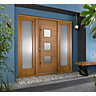 Malmo Ultimate External Oak Front Door with Outer Frame and Double Sidelights 1932mm W x 2079mm H